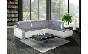 canapé d angle droit ou gauche canapé d angle droit florida gris et blanc top déco