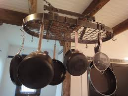 kitchen pot racks with lights pots winsome rustic wood hanging pot rack full image for rustic