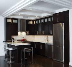 dark cherry kitchen cabinets kitchen contemporary with flooring
