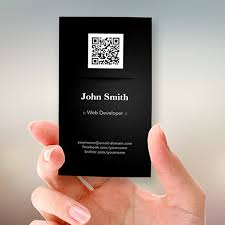 web developer elegant black qr code business card templates