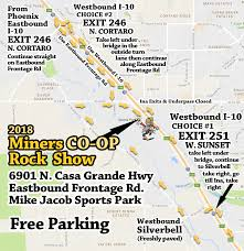 Choice Map Map And Directions To The 2018 Miners Co Op Rock Show In Tucson