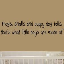 amazon com frogs snails and puppy dog tails that s what little amazon com frogs snails and puppy dog tails that s what little boys are made of large nursery wall decals vinyl wall quote nursery wall decor boys room
