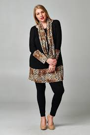 plus sweater dress plus size sweater dress matching scarf in leopard print