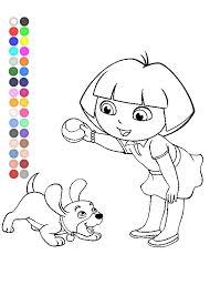 dora explorer coloring games dora perrito coloring