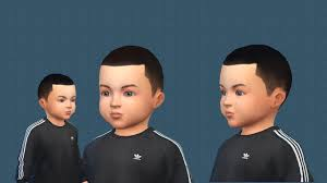 simsworkshop very short almost bald haircut for toddlers sims 4