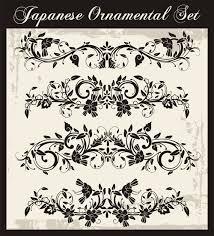 japanese styles ornaments design vector set 09 vector ornament