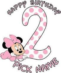 happy birthday pink baby minnie mouse personalized shirt