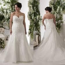 elegant plus size wedding dresses bodice applique lace sweetheart