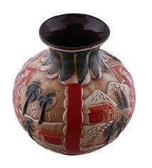 wholesale ceramic 8 u201d earthen pot shaped ceramic vase in bulk