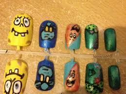 spongebob squarepants nail art 27 by jessica078 on deviantart