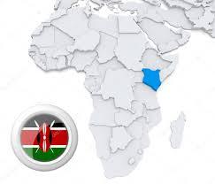 Kenya Map Africa by Kenya On Africa Map U2014 Stock Photo Kerdazz7 28738893