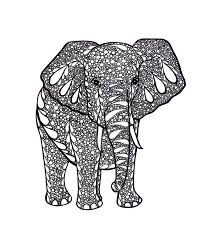 elephant art zentangle inspired art print pdf printable art ink