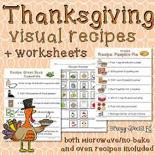 thanksgiving visual recipes for special education by breezy special ed