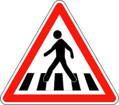 Panneau de signalisation de passages pour piétons en France