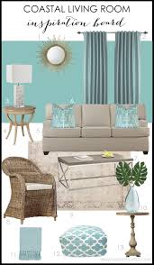 living room coastal living room design board by a blissful nest