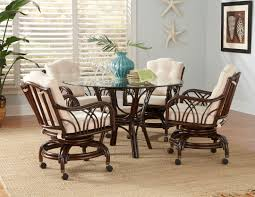 wicker dining room chairs rattan swivel dining set