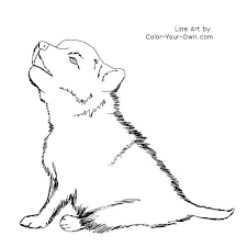 dog and puppy coloring pages wolf coloring pages for kids wolf puppy coloring page pic 1