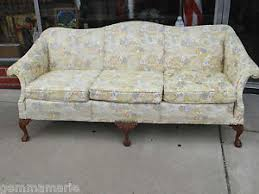 vintage camel back sofa beautiful floral vintage camel back chippendale ball claw feet