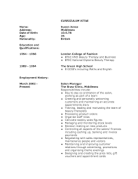Hospitality Cv Templates Resume Format For Beautician Resume For Your Job Application