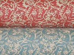 hand printed floral scroll decorator fabrics