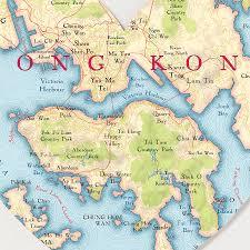 printable maps hong kong hong kong map heart print by bombus off the peg notonthehighstreet com