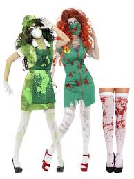 ladies zombie biohazard nurse costume stockings halloween