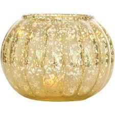 Yellow Glass Vase Gold Autumn Large Mercury Glass Vase Luna Bazaar