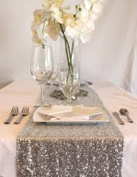 silver sequin table runner add some glam to your glitter wedding
