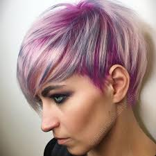 short cut tri color hair blonde red brown ombre ed and highlighted pixie cuts for any taste