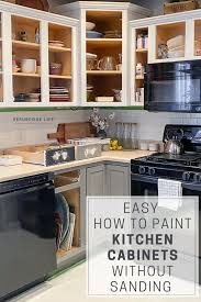 how to paint cabinets white without sanding paint kitchen cabinets white without sanding page 1 line