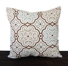 light blue pillow cases throw pillow cover cushion cover gray brown light blue brown white
