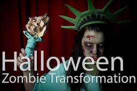 Lady Liberty Halloween Costume Halloween Zombie Statue Liberty Transformation