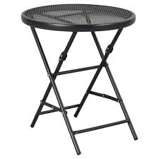 target folding patio table 18 metal mesh folding patio accent table threshold target