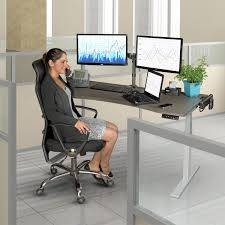 amazon com tripp lite sit stand adjustable electric desk base for