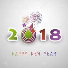 best wishes abstract modern style happy 2018 new year greeting