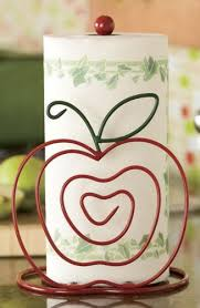themed paper towel holder apple paper towel holder for my apple themed kitchen so