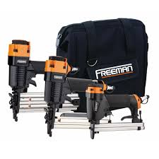 Best Pneumatic Staple Gun For Upholstery Freeman Pneumatic Corded 3 Piece Brad Nailer Stapler And