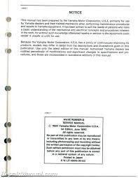 used 1991 yamaha waverunner iii wra650p service manual