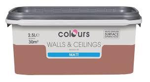 emulsion paint colours colours standard antique white matt emulsion paint 2 5l