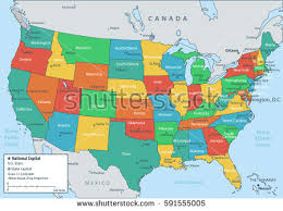 map usa all states usa map federal states all states stock vector 591555005