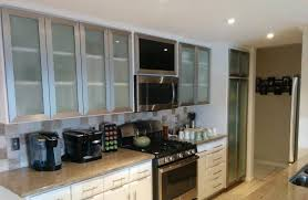 Glass Cabinet Doors For Kitchen Replacing Kitchen Cabinet Doors Glass Neilbrownqcs Door Ideas