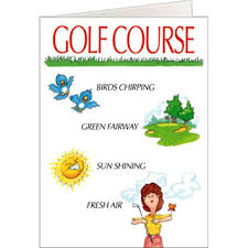 funny golf greeting cards for birthdays christmas on the ball