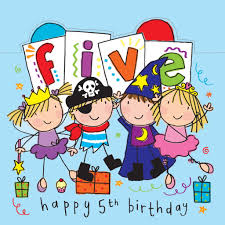 age 5 sparkly birthday card for children pirate fairy wizard