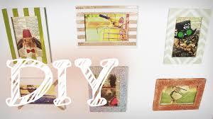 bilderrahmen dekorieren diy bilderrahmen umgestalten mit glitzer und acrylfarbe super