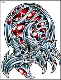 a biomechanical tattoo design photos pictures and sketches
