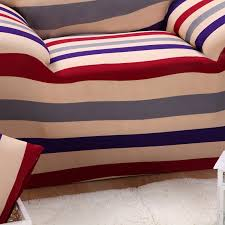 colorful striped sofa protector cover polyester spandex sofa