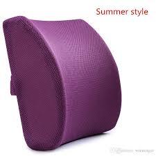 memory foam 3d ventilative mesh lumbar support cushion back