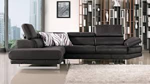 brown paulo suede sectional sofa zuri furniture