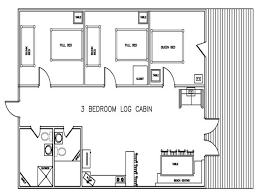 3 bedroom cabin floor plans ide idea face ripenet