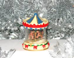 carousel ornament etsy